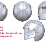 Thiết kế mũ bảo hiểm, scan 3d mũ bảo hiểm