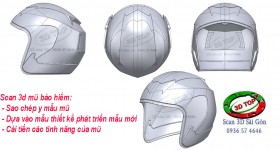 Scan 3d mũ bảo hiểm